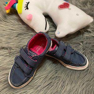Sperry Top-Sider Girls Navy/Pink Velcro Sneaker